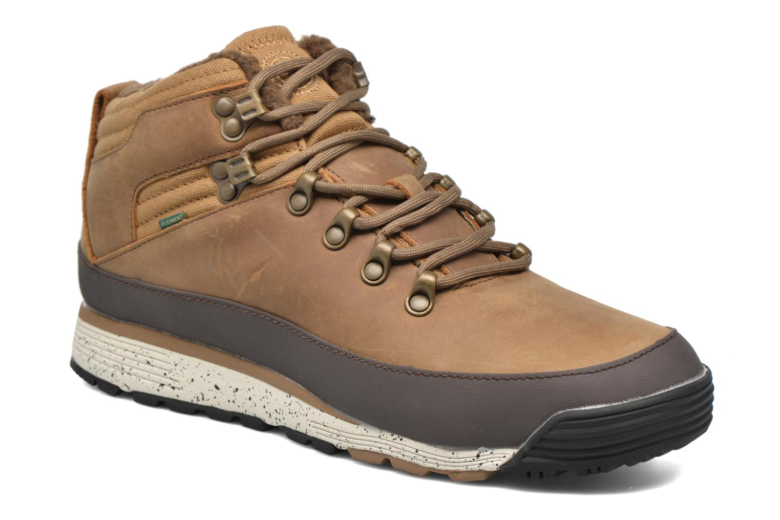 Veterschoenen Element Donnelly Bruin detail