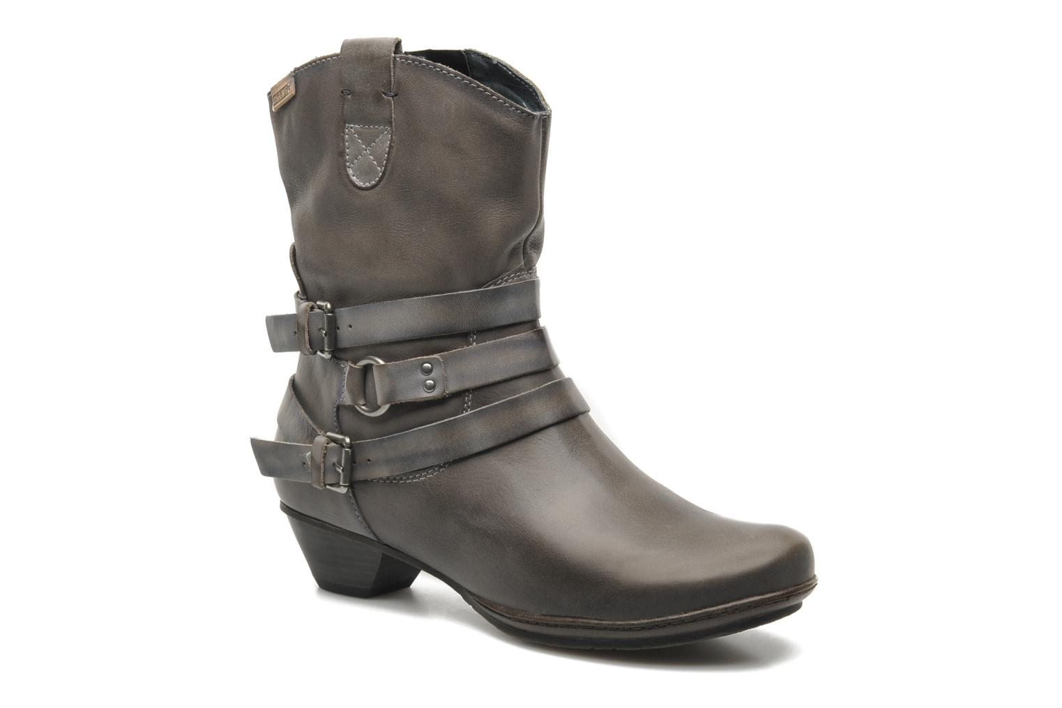 Ankle boots Pikolinos BRUJAS 801-7012F Grey detailed view/ Pair view