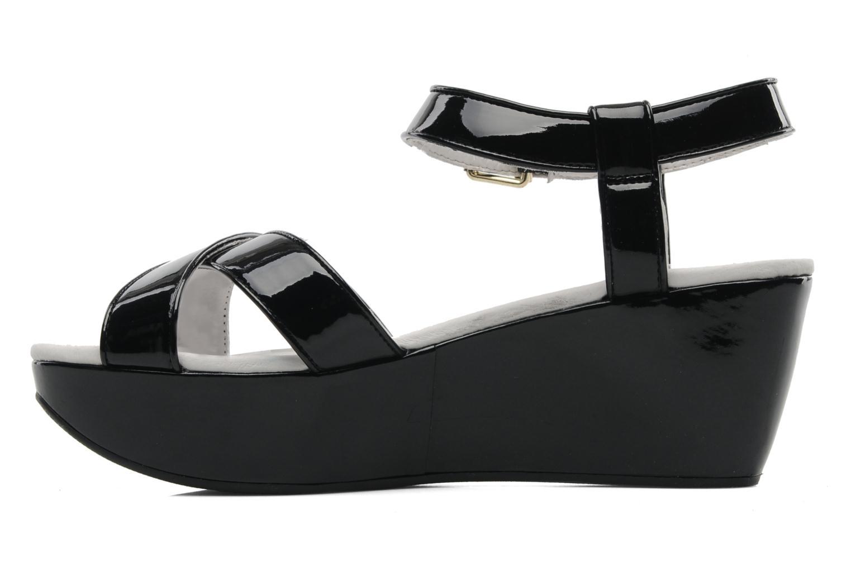 Sandales et nu-pieds Elle Iena Noir vue face