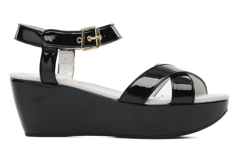 Sandales et nu-pieds Elle Iena Noir vue derrière