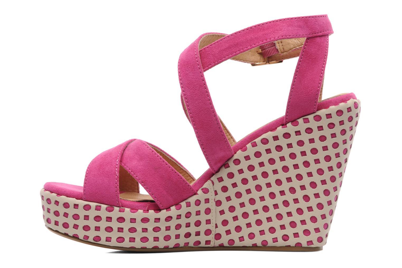Sandalen Elle Passy rosa ansicht von vorne