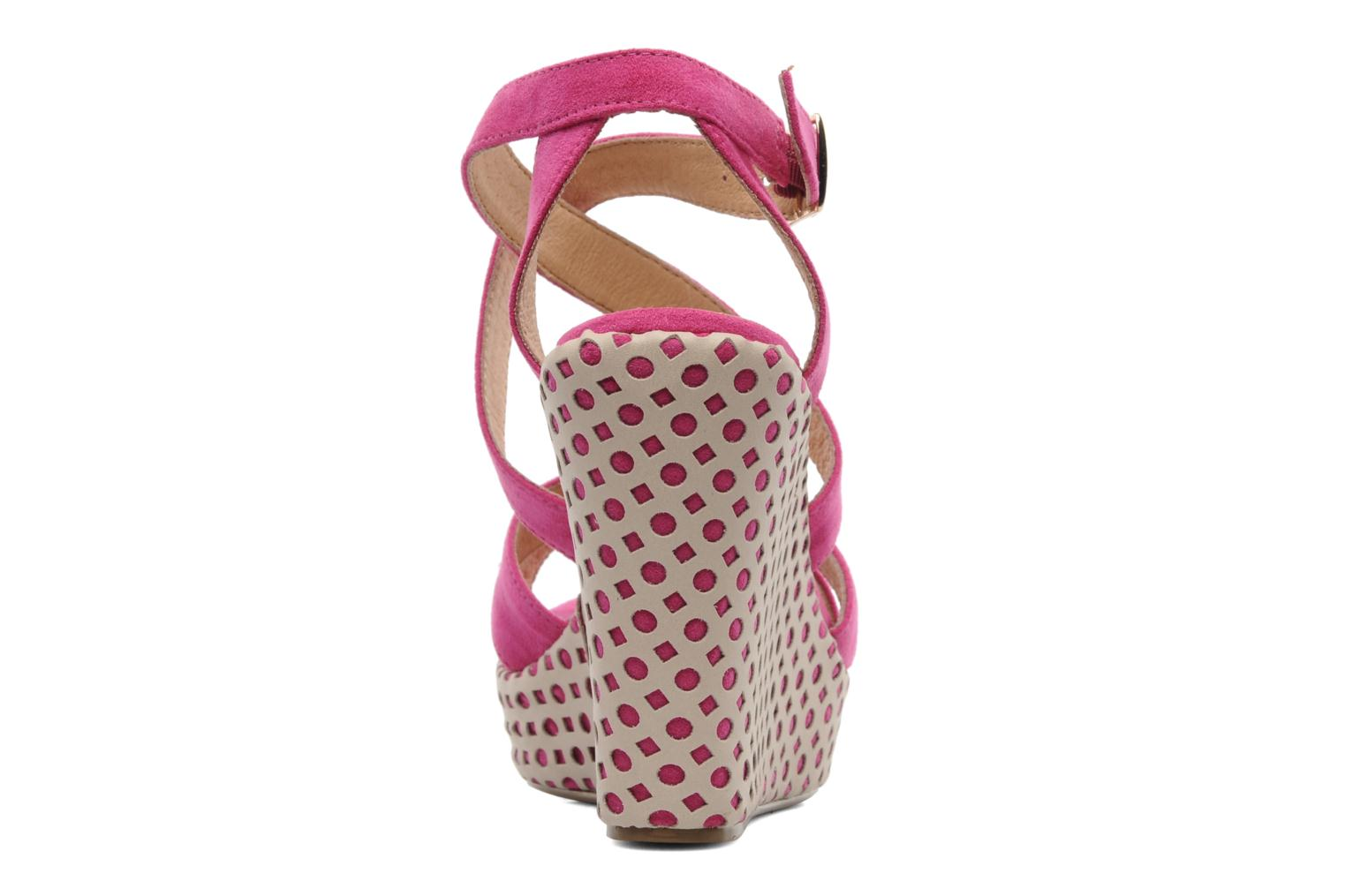 Sandals Elle Passy Pink view from the right