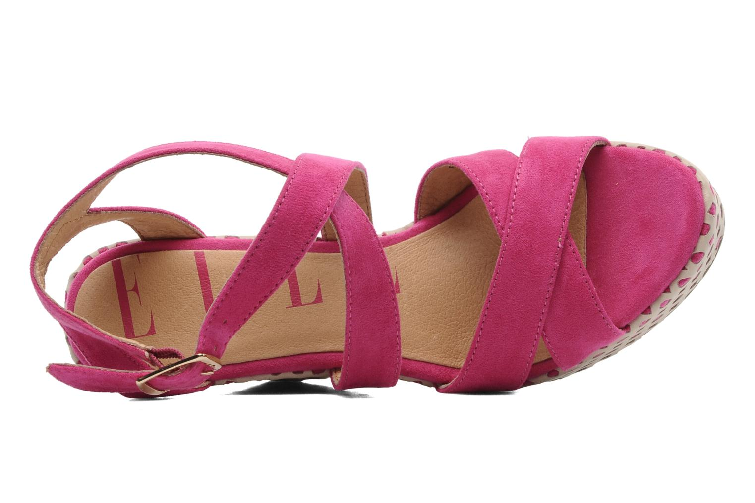 Sandals Elle Passy Pink view from the left