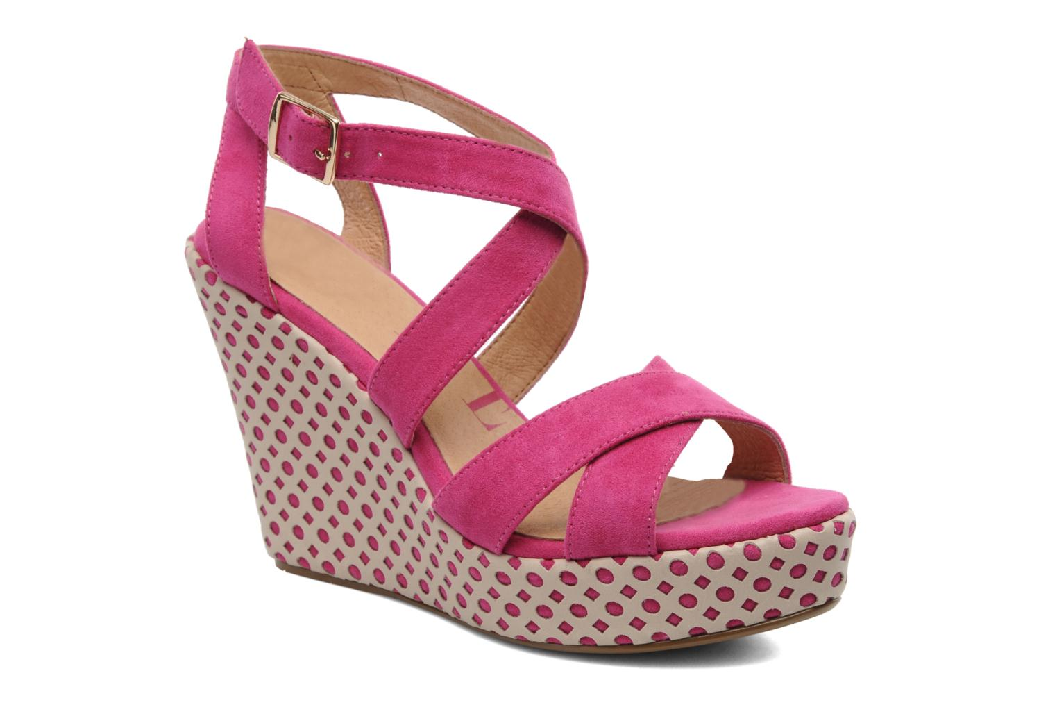 Sandals Elle Passy Pink detailed view/ Pair view