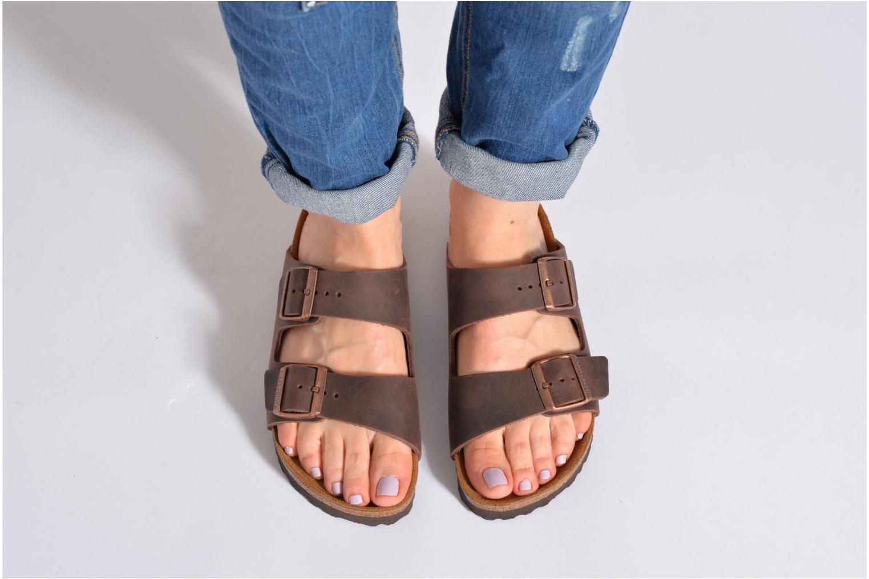 Clogs & Pantoletten Birkenstock Arizona Cuir W schwarz ansicht von unten / tasche getragen