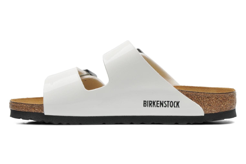 Clogs og træsko Birkenstock Arizona Flor W (Smal model) Hvid se forfra