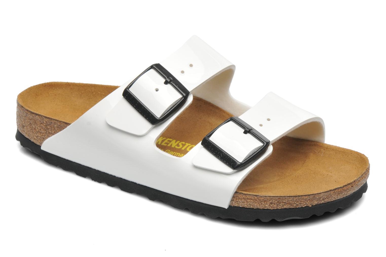 Clogs og træsko Birkenstock Arizona Flor W (Smal model) Hvid detaljeret billede af skoene