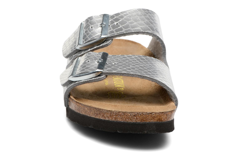 Mules et sabots Birkenstock Arizona Flor W Argent vue portées chaussures