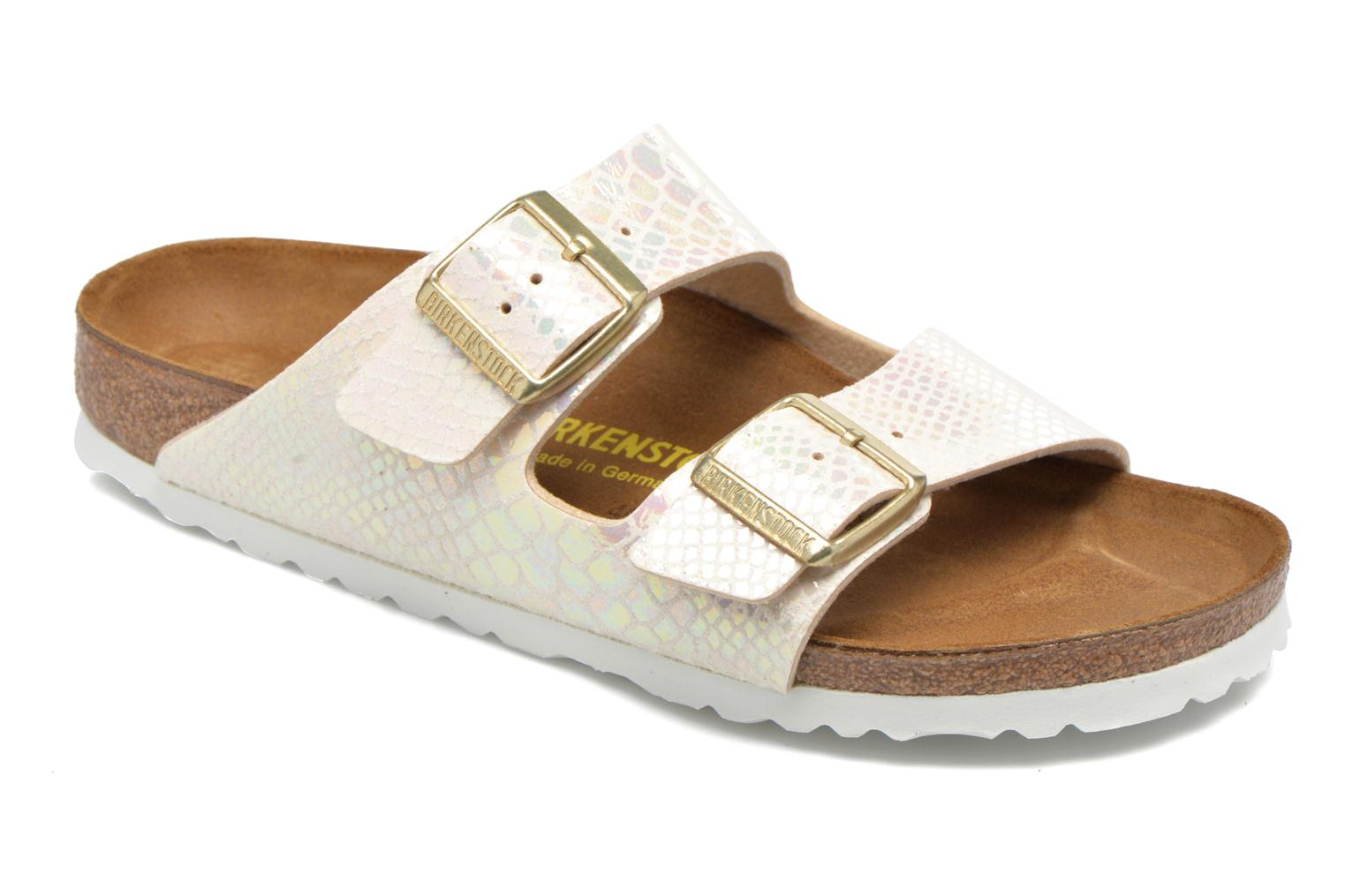 Mules & clogs Birkenstock Arizona Flor W Beige detailed view/ Pair view