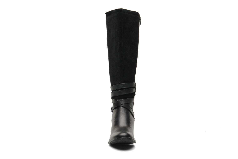 Bottes Hush Puppies Malory Rustique Noir vue portées chaussures