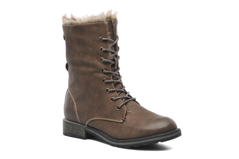 Bottines et boots I Love Shoes Suzui Marron vue 3/4