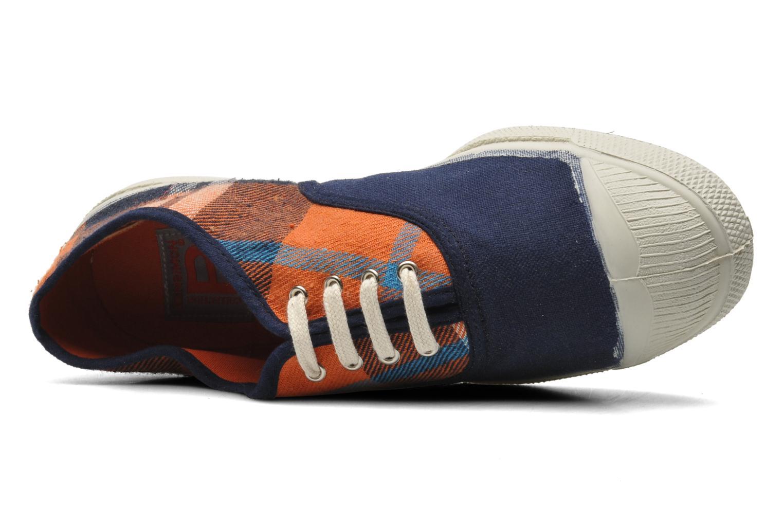 Sneaker Bensimon Tennis Lacets Carreaux Doux blau ansicht von links