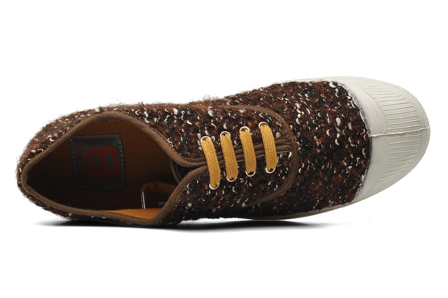 Sneaker Bensimon Tennis Lacets Tweedy braun ansicht von links