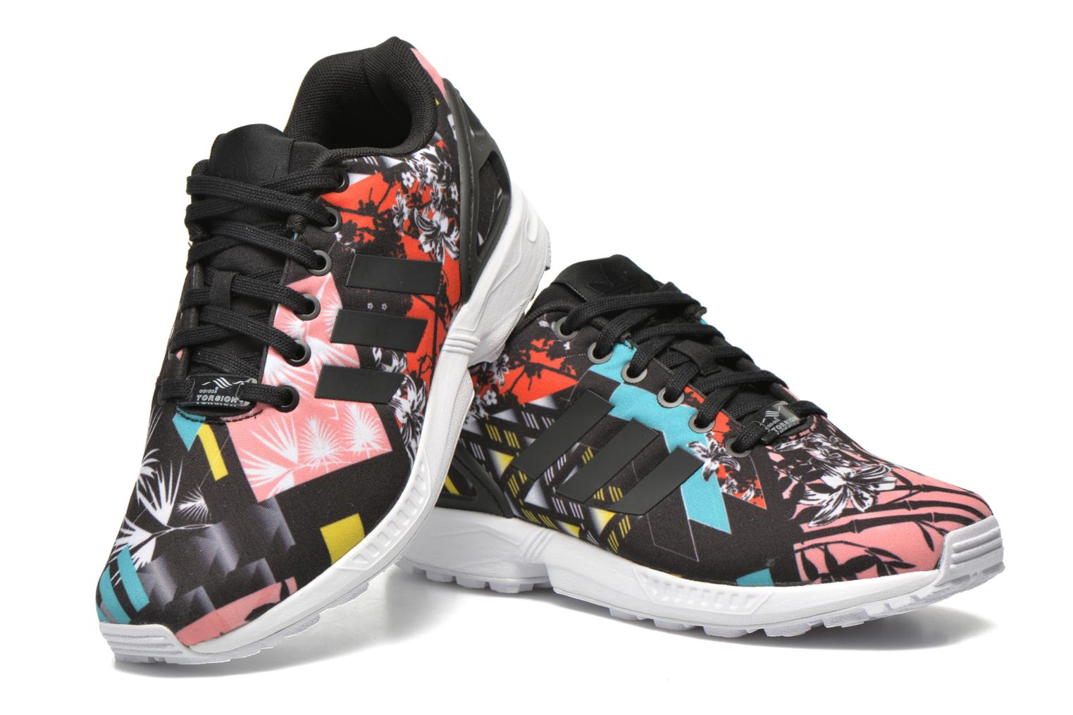 Baskets Adidas Originals Zx Flux W Noir vue 3/4
