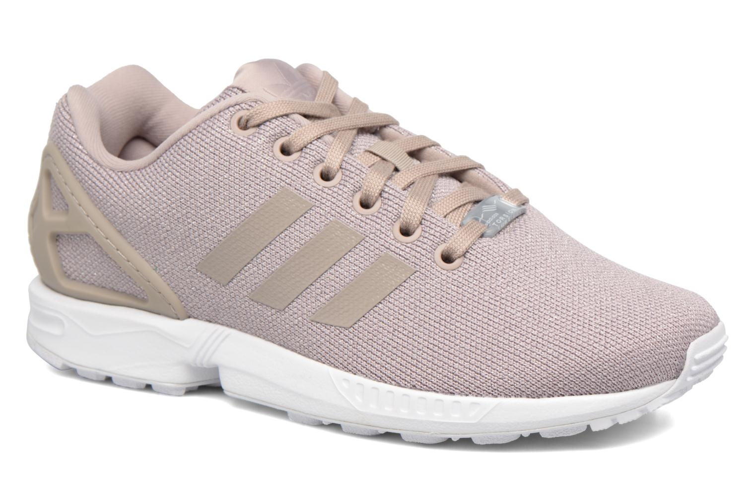 Baskets Adidas Originals Zx Flux W Gris vue détail/paire