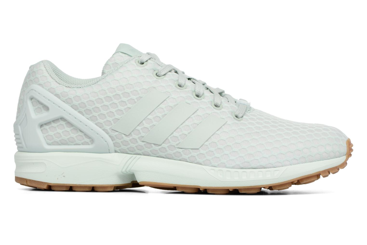 Trainers Adidas Originals Zx Flux Green back view