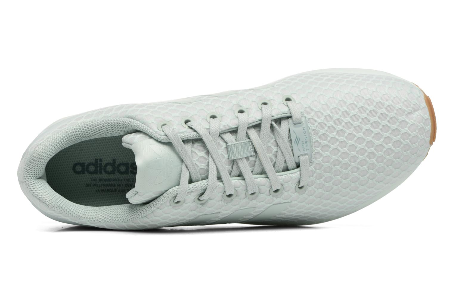 Trainers Adidas Originals Zx Flux Green view from the left
