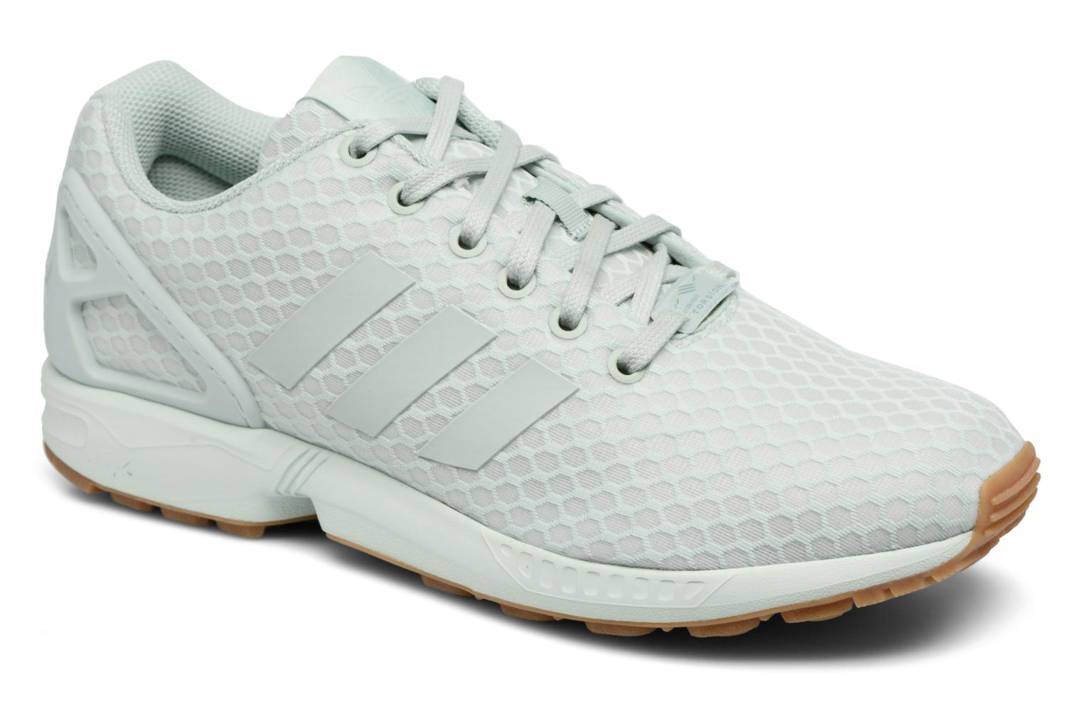 Trainers Adidas Originals Zx Flux Green detailed view/ Pair view