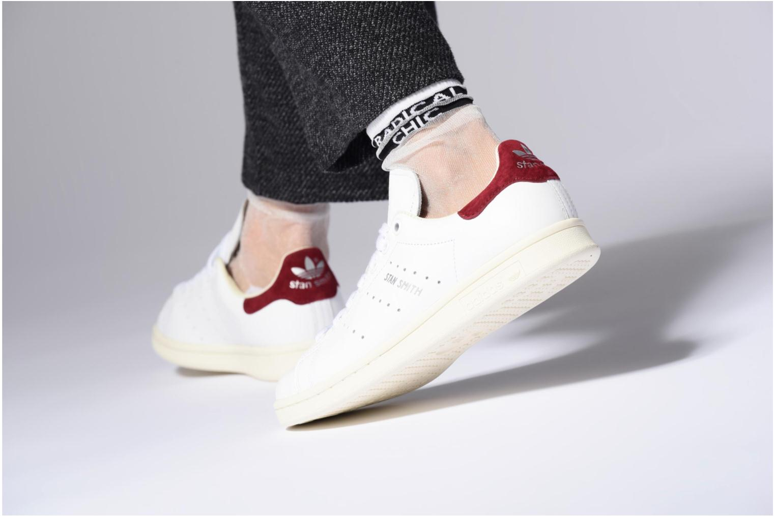 Baskets Adidas Originals Stan Smith W Blanc vue bas / vue portée sac