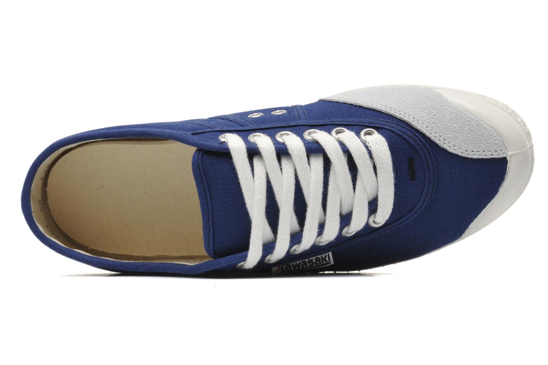 Sneaker Kawasaki Basic blau ansicht von links