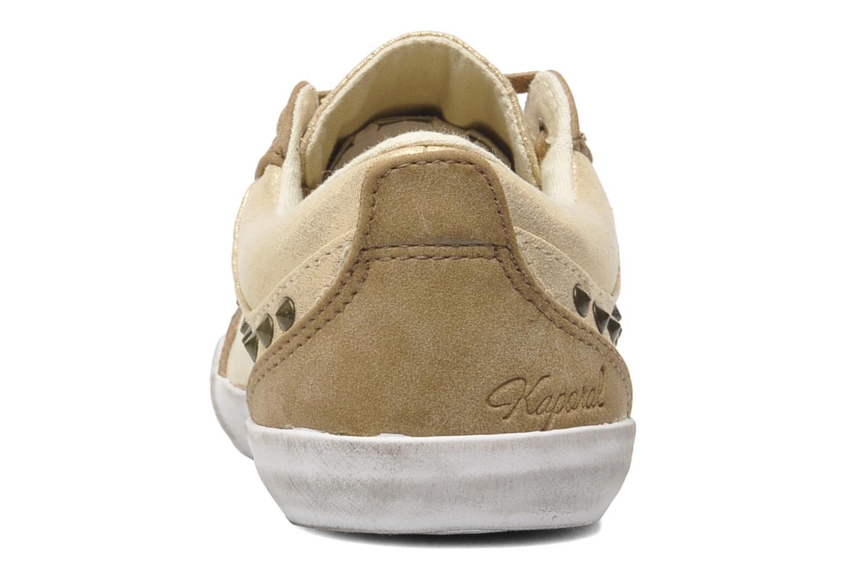Sneakers Kaporal Stessa Goud en brons rechts