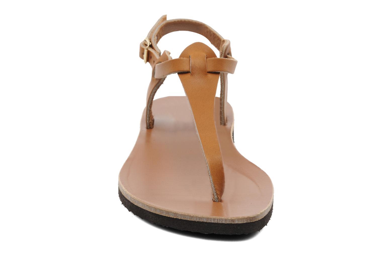 Sandales et nu-pieds Sandales de Thaddée Carthage Marron vue portées chaussures