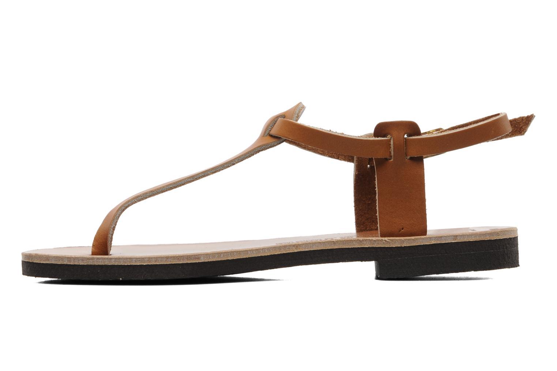 Sandales et nu-pieds Sandales de Thaddée Carthage Marron vue face