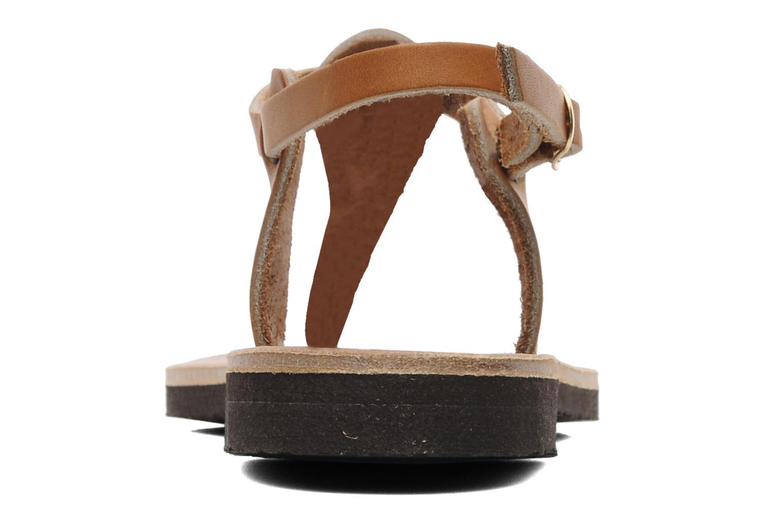 Sandalen Sandales de Thaddée Carthage Bruin rechts