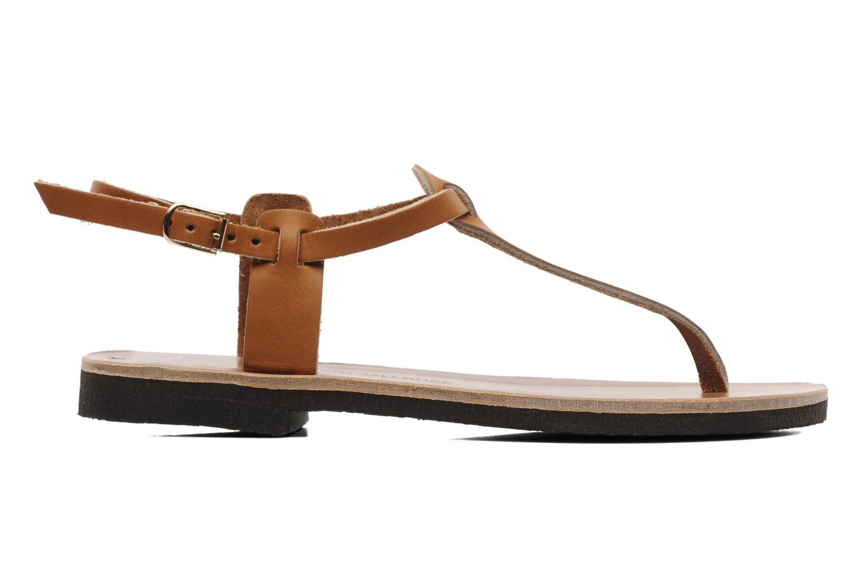 Sandalen Sandales de Thaddée Carthage Bruin achterkant