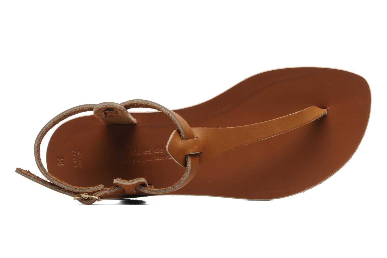Sandales et nu-pieds Sandales de Thaddée Carthage Marron vue gauche