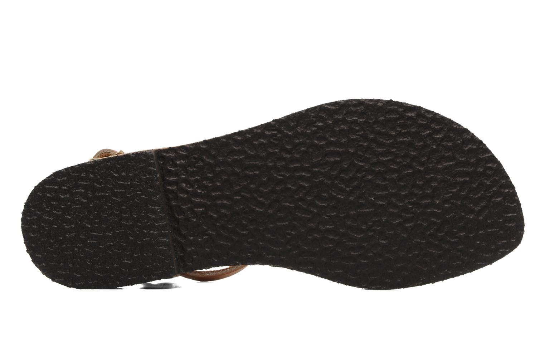 Sandales et nu-pieds Sandales de Thaddée Carthage Marron vue haut
