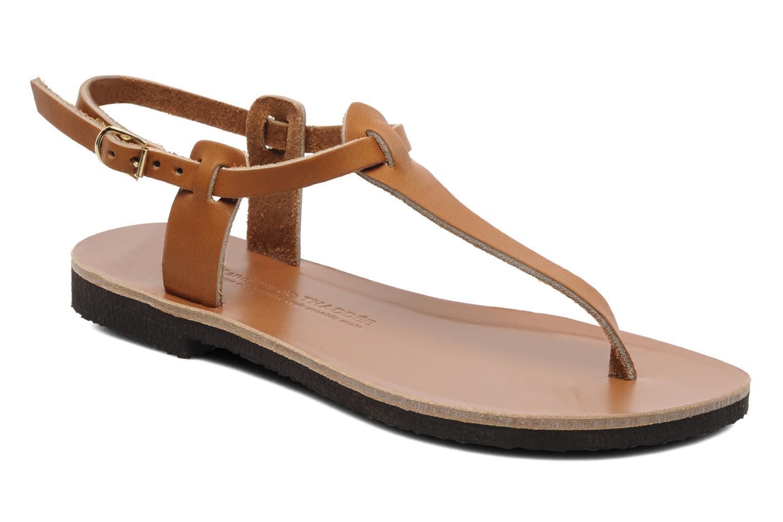 Sandalen Sandales de Thaddée Carthage Bruin detail