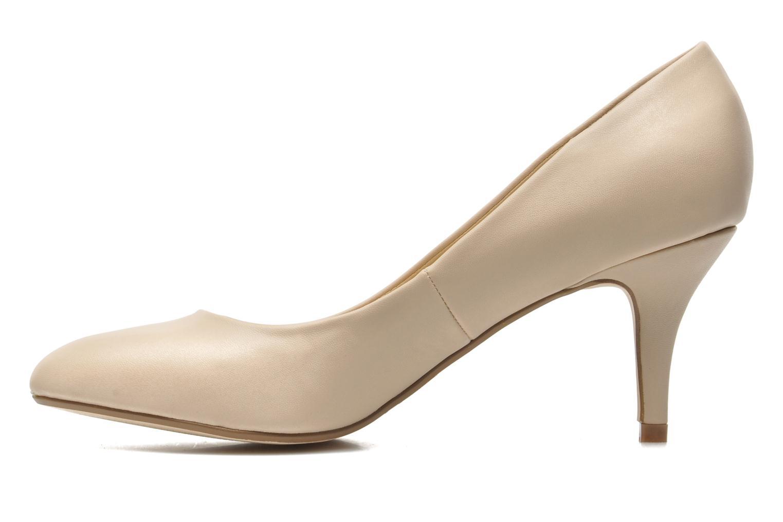 High heels I Love Shoes Kizup Beige front view