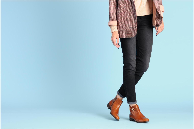 Bottines et boots Georgia Rose Amalgame Marron vue bas / vue portée sac