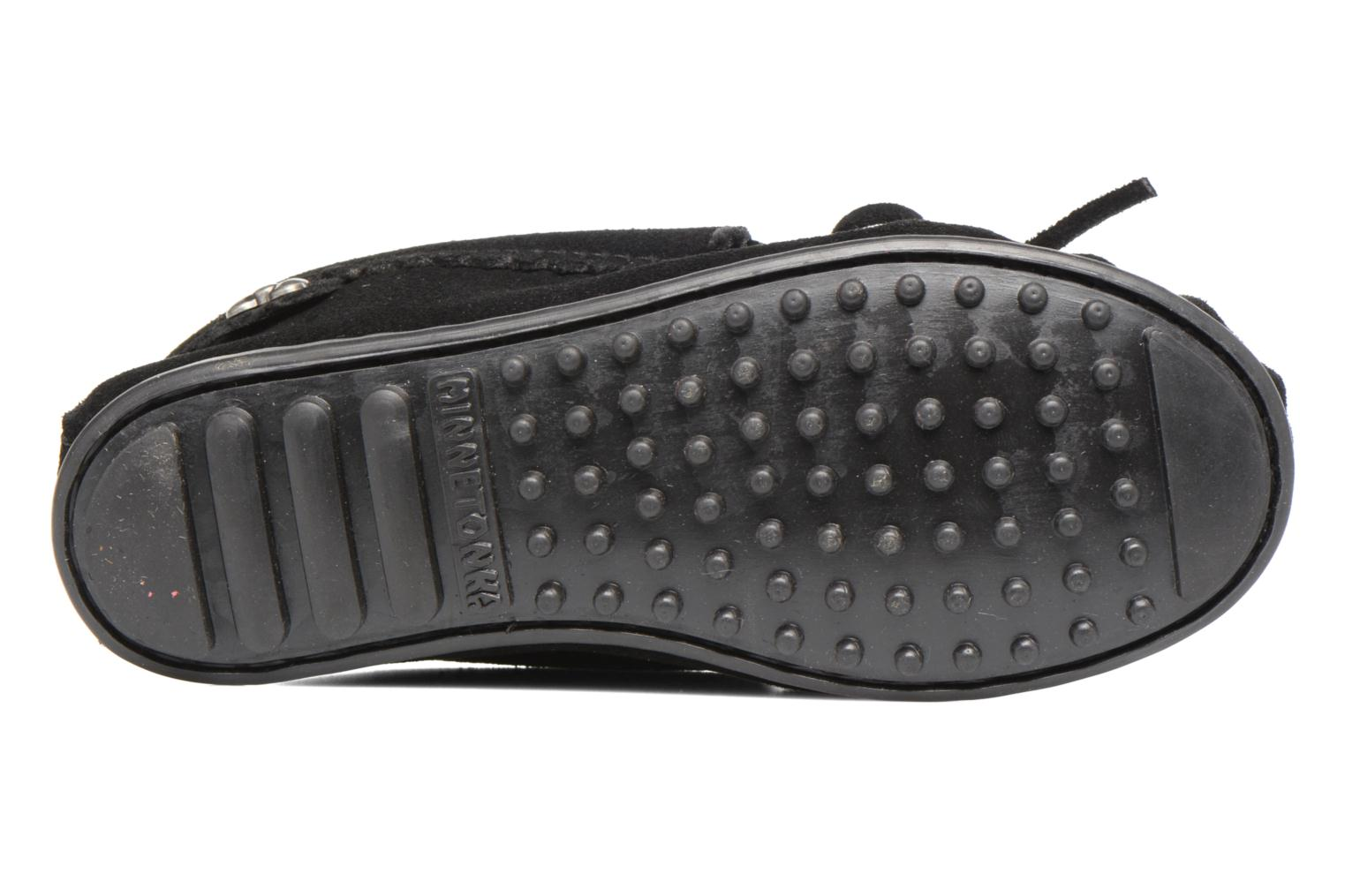 Loafers Minnetonka Hello Kitty Moc Black view from above