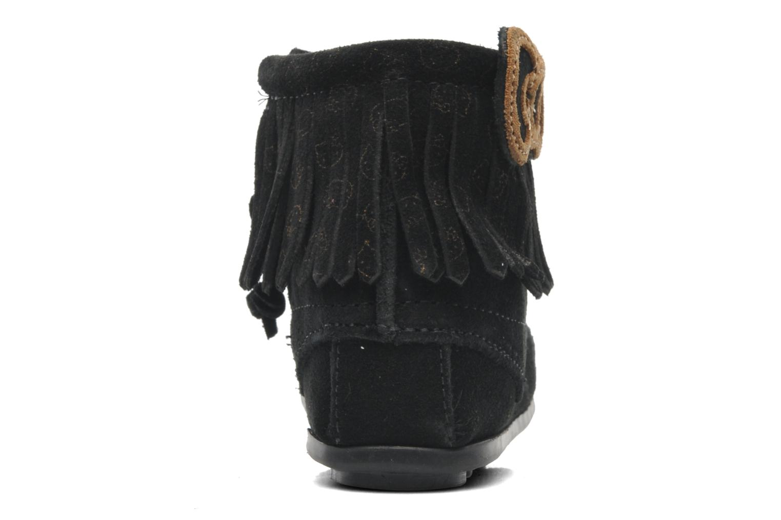 Ankle boots Minnetonka Hello Kitty Fringe Bootie Black view from the right