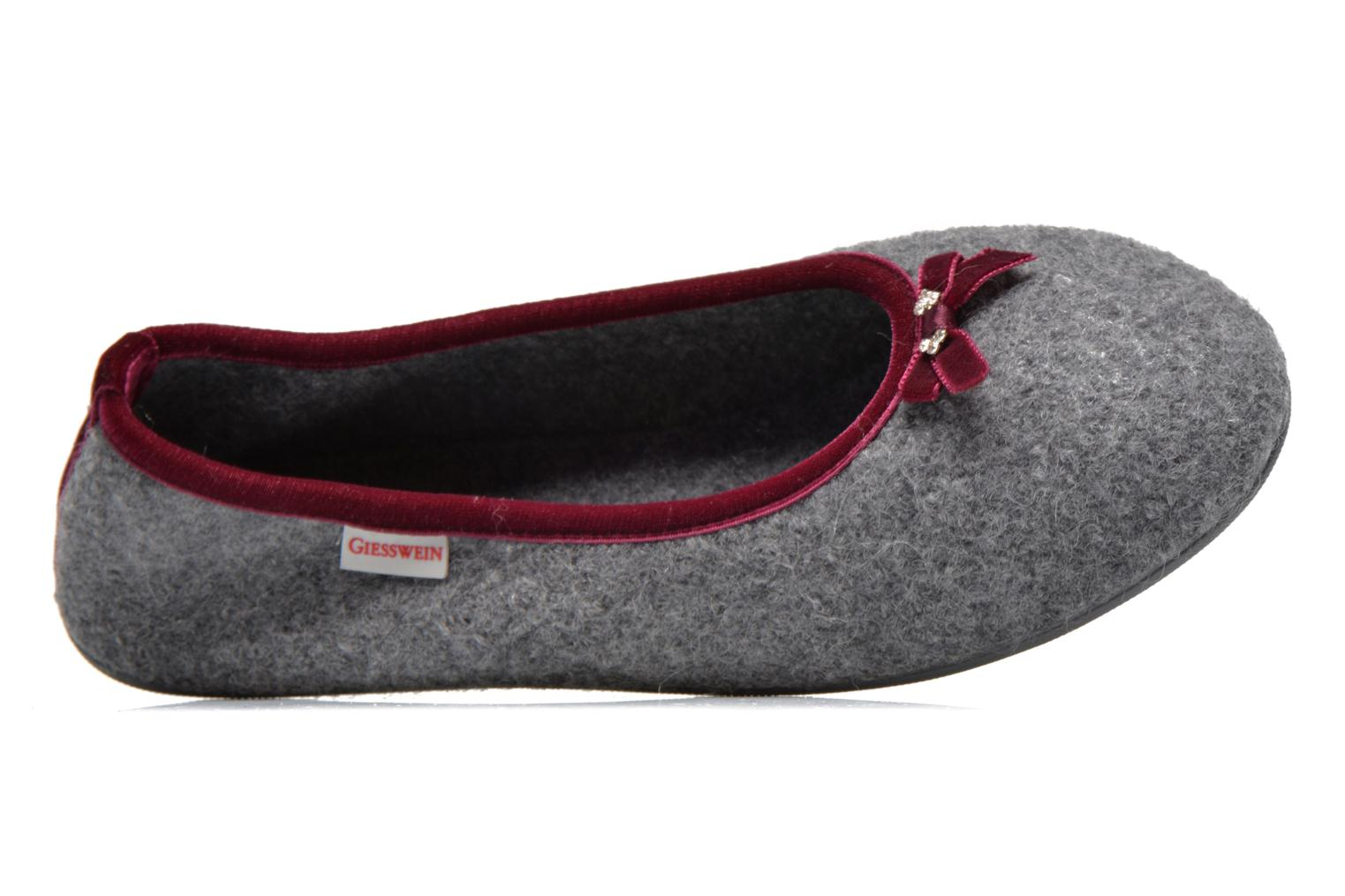 Slippers Giesswein Honehau Grey view from the left