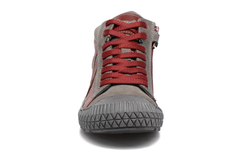 Baskets Stones and Bones Niels Bordeaux vue portées chaussures