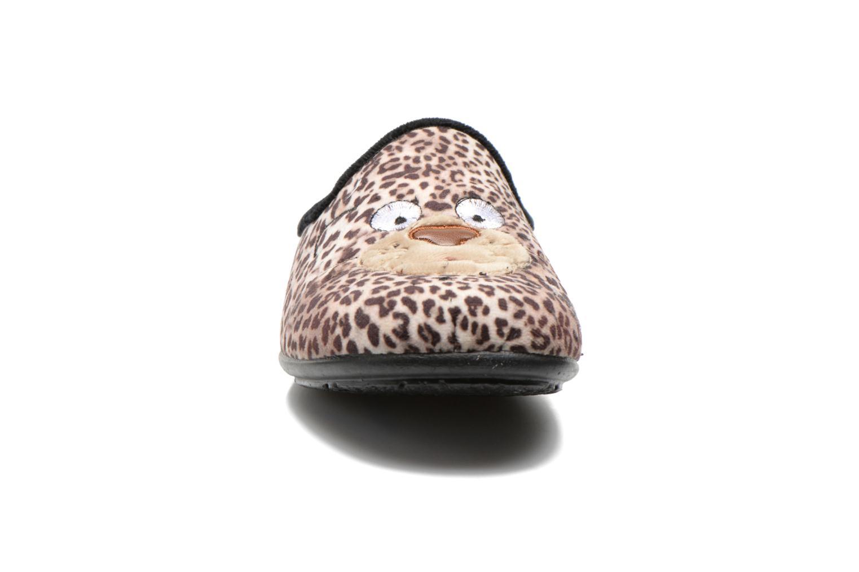 Chaussons La maison de l'espadrille Agathe Beige vue portées chaussures