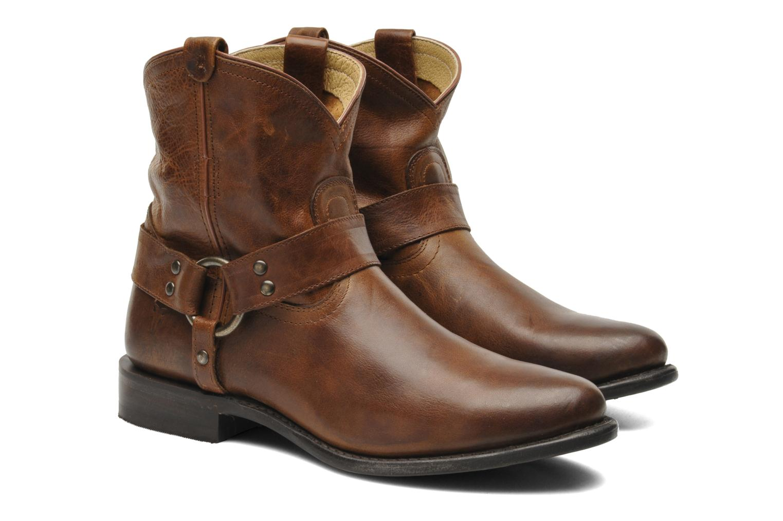 Bottines et boots Frye Wyatt Harness Short Marron vue 3/4