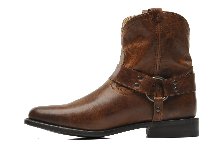 Bottines et boots Frye Wyatt Harness Short Marron vue face