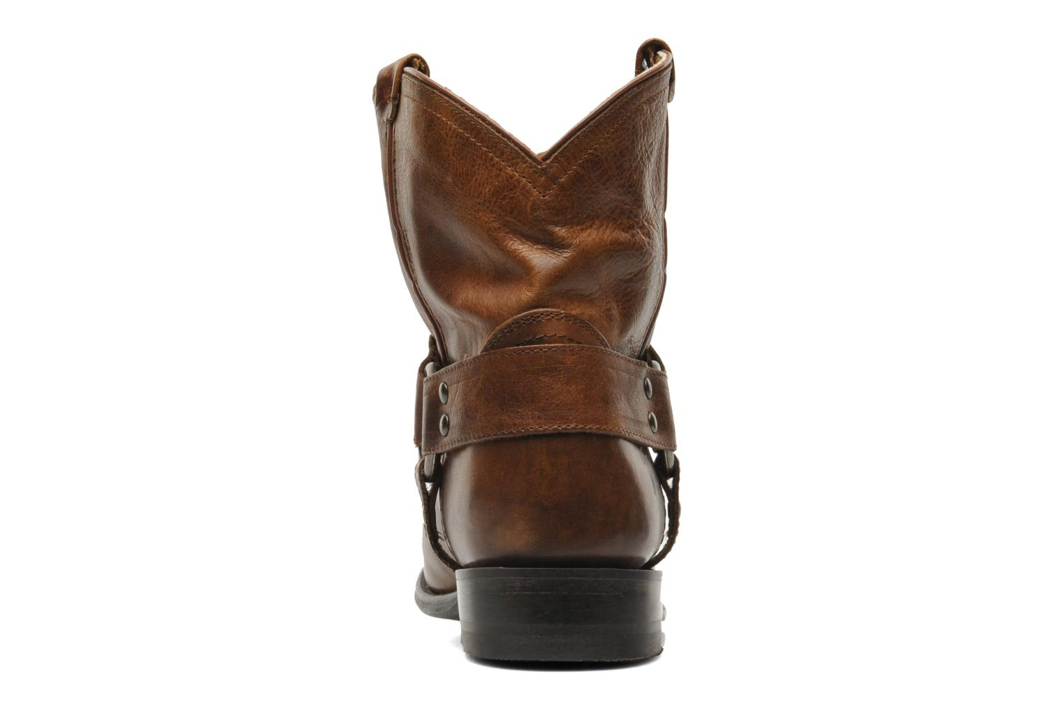 Bottines et boots Frye Wyatt Harness Short Marron vue droite