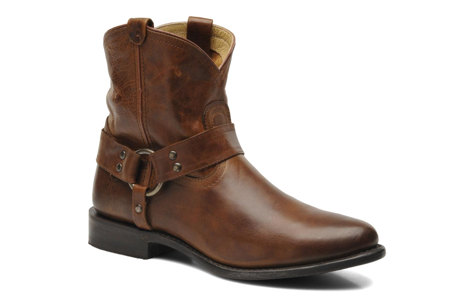 Bottines et boots Frye Wyatt Harness Short Marron vue détail/paire
