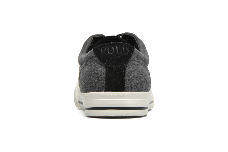 Baskets Polo Ralph Lauren Vaughn-Ne Gris vue droite