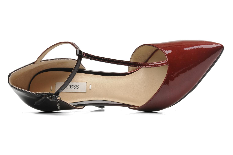 Zapatos de tacón Guess Teren Rojo vista lateral izquierda