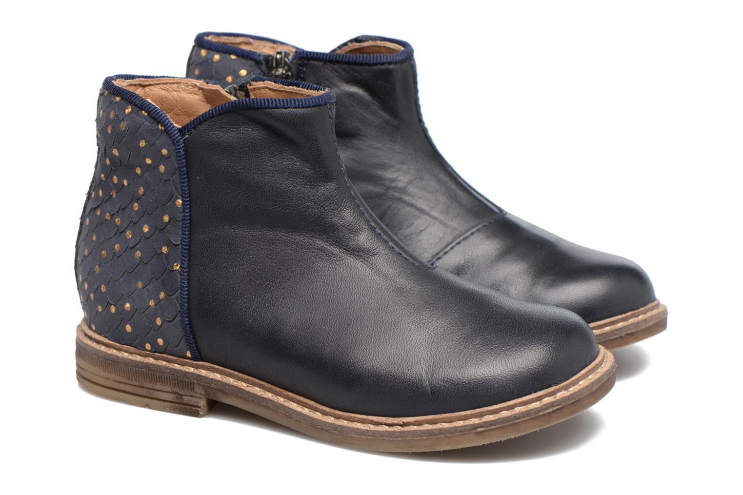 Ankle boots Pom d Api RETRO BACK Blue 3/4 view