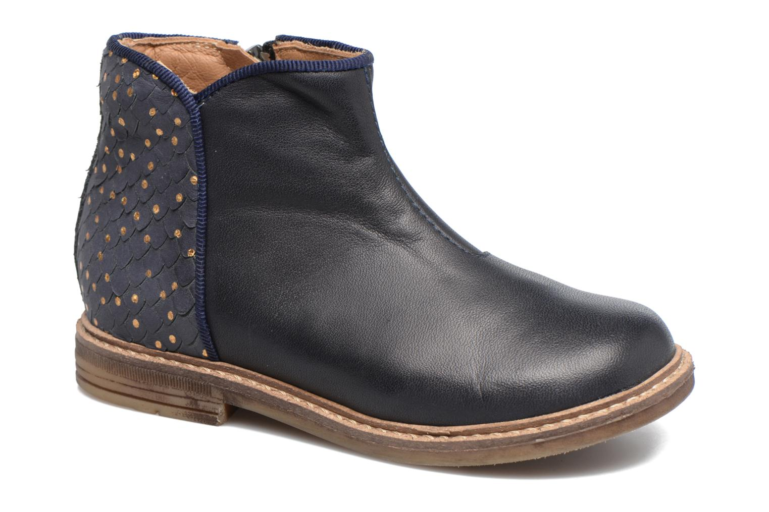 Ankle boots Pom d Api RETRO BACK Blue detailed view/ Pair view