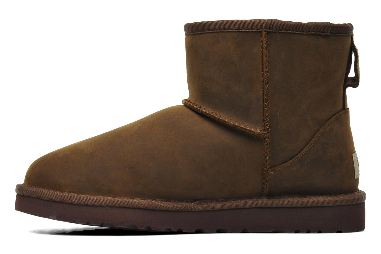 Bottines et boots UGG Classic Mini Leather Marron vue face