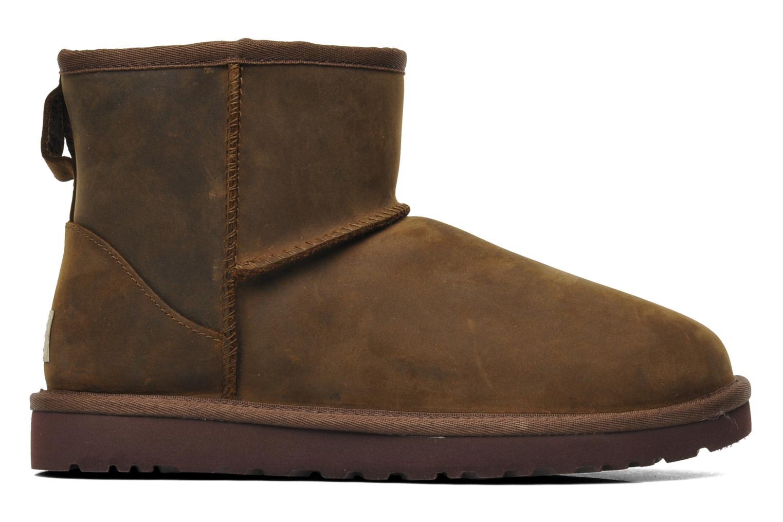 Bottines et boots UGG Classic Mini Leather Marron vue derrière