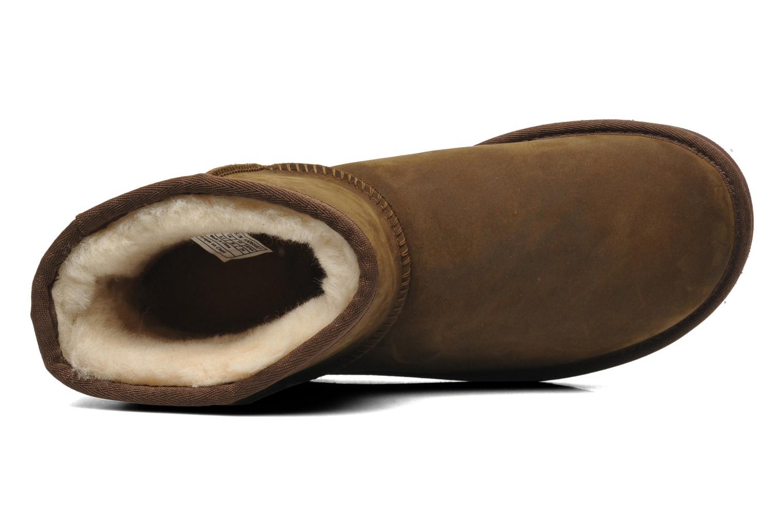 Bottines et boots UGG Classic Mini Leather Marron vue gauche